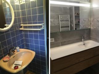 Rénovation avant/après salle de bains à Nages et Solorgues (30)