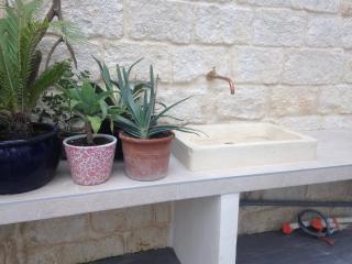 Habillage plan vasque extérieur