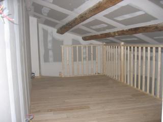 Mezzanine parquet sur structure  bois