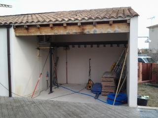 Terrasse couverte avant aménagement et isolation