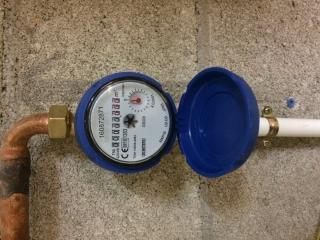 Installation d'un compteur d'eau