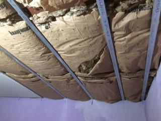 Isolation plafond sous rampant R=6 m2K/W