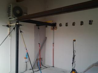 Création d'une mezzanine avec structure métallique