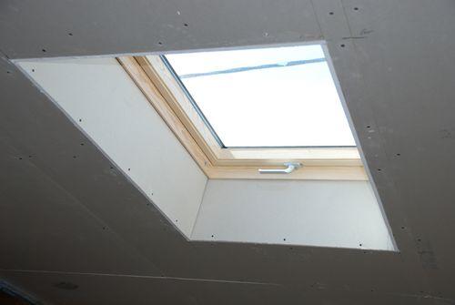 Habillage placo et ouvrages divers travaux renovation for Habillage fenetre de toit