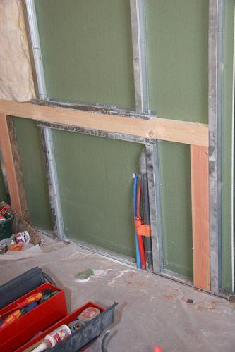 Habillage placo et ouvrages divers travaux renovation placo - Plaque de placo pour salle de bain ...