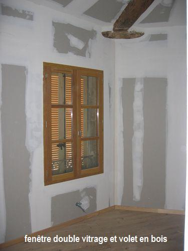 Pose de fen tres et portes fen tres bois travaux - Pose fenetre bois en applique ...